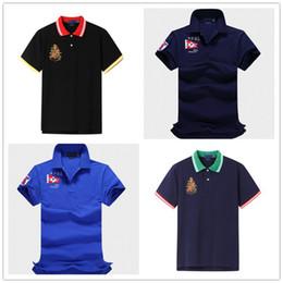 Wholesale polo t shirt usa for sale – custom USA new teens polo shirt long sleeved designer t shirts Slim cotton ralph poloshirt shirt men lapel mixed color mens polo shirt