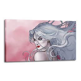 China Cartoon Art Lady Death In The Fire,Oil Painting Reproduction High Quality Giclee Print on Canvas Modern Home Art Decor 2511 suppliers