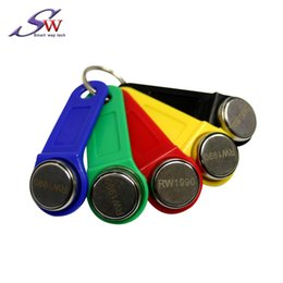 Wholesale RW1990 Ibutton DS1990 IB card with plastic holder read and write copy TM1990 64bit Number 100 piece 1 box