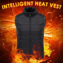 fiber max 2019 - Outdoor USB Infrared Heating Vest Jacket Winter Carbon Fiber Electric Heating USB Sleeveless Vest Winter Heated Outdoor