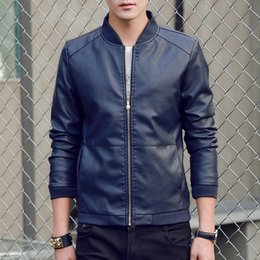 Motorcycle Jacket For Winter Australia - 2019 Autumn Winter Men's Leather Coat Korean Slim Fit Leather Jackets Fashion Casual Outwear for Man Motorcycle Coats
