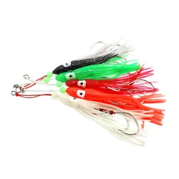 trolling lures UK - 11cm 10 colors Soft Octopus Trolling Fishing Lures Big Game Squid Skirts Luminous Fishing Baits Tuna Bass Jigging Rigs