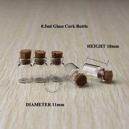$enCountryForm.capitalKeyWord Australia - Free Shipping 0.5ml Small Glass Vials Mini Jar With Cork Stoppers Decorative Corked For Pendants Wishing Bottle 200pcs lot