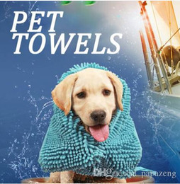 Super Absorbent Dog Towel Australia - Wholesales Useful Water Remover Super Absorbent Hand Pockets Pet Grooming Drying Towel Cat Cleaning Bathing Tool Dog Bathrobe