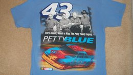 Blue Family Shirt Australia - Official PETTY BLUE #43 T-Shirt - Family Photo Richard Lee Kyle Adam NASCAR Med Funny free shipping Unisex Casual top