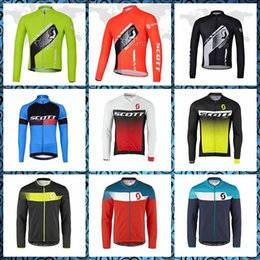 Discount scott cycle shirts - SCOTT 2019 Cold resistance Cycling long Sleeves jersey men autumn spring Outdoor Sports Leisure Thin and light 61304X