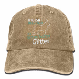 Cowboy Hair Australia - Adults Caps German Shepherd Glitter Not Dog Hair Denim Baseball Caps Camping Bill Caps Washed Twill Hats