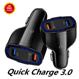 gps for tablet pc Canada - Best 3 Ports Car Charger Type C And USB Charger QC 3.0 With Qualcomm Quick Charge 3.0 Technology For Mobile Phone GPS Power Bank Tablet PC
