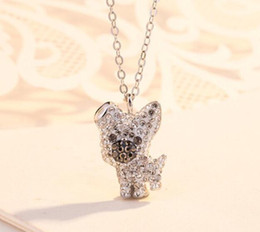 Necklaces Pendants Australia - New Luxury Necklace Dog Pendant Women Gold Silver Brand Designer Plated Diamond Stainless Steel SWA Jewelry Necklace S1022 for Sale