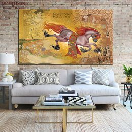 Giclee Print Canvas Paintings Australia - painting DPARTISAN Huge Gustav KLIMT giclee print CANVAS WALL ART decor poster oil painting print on canvas wall picture For living room