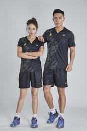 $enCountryForm.capitalKeyWord Australia - YON EXX LD Badminton Suit Sportswear for Men and Women Short Sleeve T-shirt for Leisure Running Basketball casual wear 6037+7025 BLACK