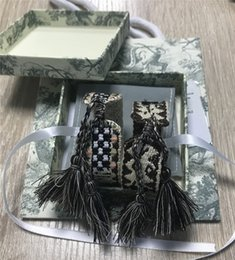 Wholesale High quality rope woven bracelet Embroidery bracelet tassel famous brand jewelry fabric bracelet freindship with box gift free shipping