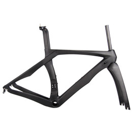 Discount 49cm carbon bicycle - RB1K frame UD grain carbon fiber frame road vehicle ultra light T1000 all-in-one bicycle carbon frame