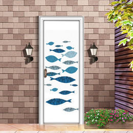 $enCountryForm.capitalKeyWord Australia - Cartoon DIY 3D Vivid paintting Fishes Door Stickers Pattern for Room Wall Decoration Home Decor Accessories Wall Sticker