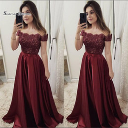 $enCountryForm.capitalKeyWord NZ - 2019 Satin Beads Off The Shoulder Short Sleeves High End Quality Evening Party Dress Hot Sales