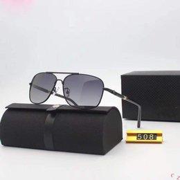 Glasses Sun Protection Australia - New Glass Polarized Sunglasses Top Quality Master Men Sun Glasses Women Semi Rimless Retro UV Protection Sunglass 8755
