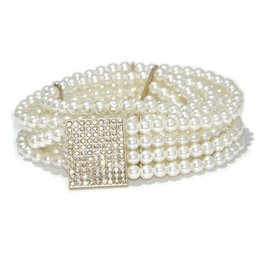 Apparel Accessories Fashion Imitation Pearl Beads Waist Elegant Unique Pearl Waist Belt Waist Chain Women Waistband Strap Accessories 2018 New Bringing More Convenience To The People In Their Daily Life