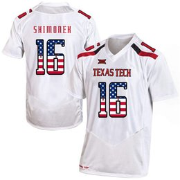 a838d61dc Mens Custom Nic Shimonek Football Jersey Texas Tech USA Flag Fashion Print  High Quality Stitched College American Football Jerseys