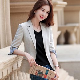 new women blouse korean NZ - Women Blazers and Jackets New Korean Seven-Sleeve Leisure Suit for Women In Spring and Summer Womens Tops Blouses