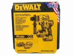 Опт Новый Dewalt DCK299P2 5.0Ah 20 В Беспроводной бесщеточный комбинированный набор из 2 инструментов DCD996 DCF887