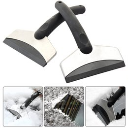 Discount car remove tool - Hot sale Snow Ice Scraper Stainless Removal Clean Tool Auto Car Vehicle Fashion And Useful Ice Remove Tool