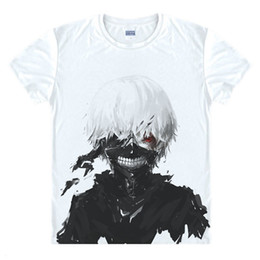 China Tokyo Ghoul T-shirts New Japan Anime Kaneki Ken Adjustable Zipper Cosplay Costume Animation Cartoon Ninja Creative 3d T Shirts Y19060601 cheap tokyo ghoul costume man suppliers