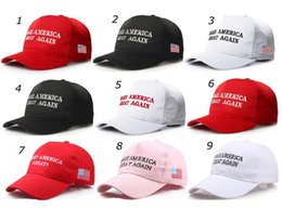 EmbroidEry for boys online shopping - Make America Great Again Hat Donald Trump Republican Baseball Snapback Adjustable Embroidery Hats Political Patriot Hat for President new