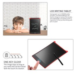 "tablet stylus for drawing Australia - 2pcs Red 8.5"" LCD Tablet Writting Drawing Pad Memo Message Board Notepad Stylus for eWriter"