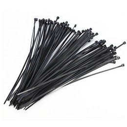 Wire Wrap cable online shopping - 100PCs Plastic Zip Trim Wrap Cable Loop Ties Wire Self Locking mm Black Nylon Plastic Network Cable Wire Zip Tie Cord Strap