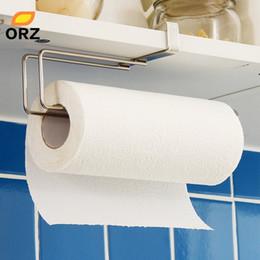 $enCountryForm.capitalKeyWord Australia - Kitchen Paper Holder Hanger Tissue Roll Towel Rack Bathroom Toilet Sink Door Hanging Organizer Storage Hook Holder Rack SH190709
