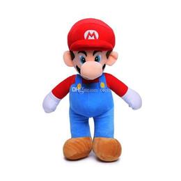 Super mario broS figureS online shopping - Hot Sale Style quot CM MARIO LUIGI Super Mario Bros Plush Doll Stuffed Toys For Baby Good Gifts