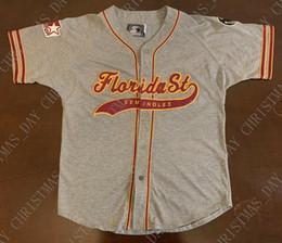 Toptan satış Dikişli özel Vintage Starter Florida State Seminoles Beyzbol Jersey Kişiselleştirilmiş özel herhangi bir sayı adı XS-5XL