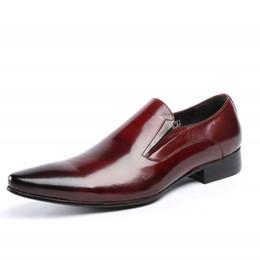 062723b5316df 2019 vera pelle di mucca scarpe derby uomo elegante ufficio lavoro scarpe a  punta maschile calzature appartamenti di alta qualità nero rosso JS-A0016