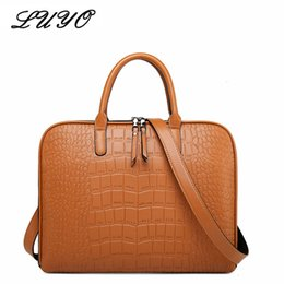 women business laptop bags Australia - Office Handbag Female Leather Shoulder Bag Ladies Hand Bags For Business Briefcases Girls Woman Laptop Women Leather Handbags
