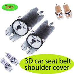 Seat belt Safety coverS kidS online shopping - 2pc D Cartoon Car Seat Belt Shoulder Cover Pad Universal Child Auto Safety Cover Soft Plush Padding Car Accessories Kids Gifts