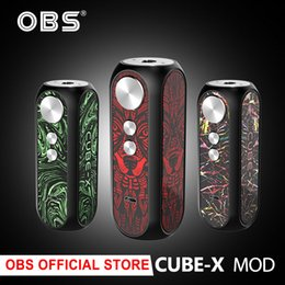 $enCountryForm.capitalKeyWord Australia - Original OBS Cube X 80W Box MOD by 18650 Battery max 80W Vape Mod Box Vape Vaporize