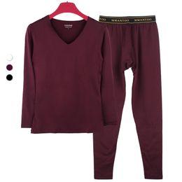 Wholesale long johns warm winter pants for sale - Group buy Seamless V collar men thermal underwear fleece youth thin slim long johns warm primer set constant metrosexual male winter pants
