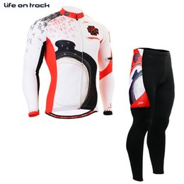 winter cycling tights Australia - Mens Winter Printing Long Sleeve Bicycle Clothing Tights Jersey Cycling Skin Meia De Compressao Para Correr Clothes