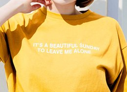Wholesale It is a beautiful Sunday to leave me alone yellow sweatshirt funny slogna women grunge tumblr cool street style Pullovers outfi