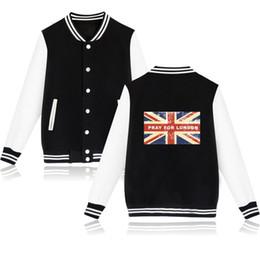 Discount clothing printing london - Fashion London Flag Jacket Women Black And White New Jacket Coat Design Cotton Hoodies Women Jacket Clothing