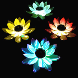 Wholesale BRELONG Solar Multicolor LED Lotus Light RGB Waterproof Outdoor Floating Pool Night Light Automatic On Off Garden Pool Party