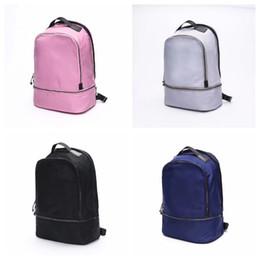 Toptan satış Lu sırt çantası yoga sırt çantaları seyahat açık spor çantaları genç okul 4 renkler