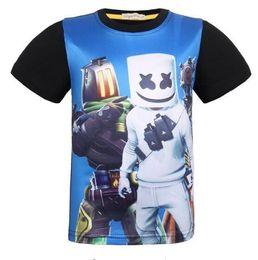 Cotton Mask For Kids Australia - Children Summer T Shirt Dabbing Funny Cartoon Short Sleeve T-Shirts For Boys Girls serape Tops Kids DJ masks kids Tshirt
