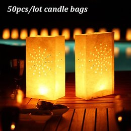 $enCountryForm.capitalKeyWord Australia - Paper Candle Bags Sunflower Tea Light Candle Holder Bag Lantern Luminary For Christmas Party Wedding Outdoor Decoration