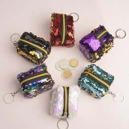 mechanics gifts Australia - Charming Glitter Sparkling Bling Sequins Pouch Bag Durable Coin Wallet Purse Cute Zippper Mini Change Bag Package For Women Girls Gift M200Y