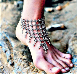 dancing anklets feet Australia - E2 Beach Dance Retro-sculptured Foot Chain with tasseled Foot Ornaments,Women Anklets,Anklet Bracelet,Ankle Jewelry Chain free shipping