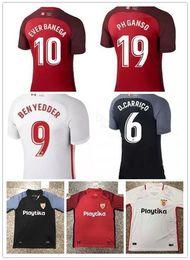 Football Uniforms Australia - Sevilla Football Shirt Soccer Jersey Football uniform 2019 home and away Layun 3# Ben Yedder 9# Vazquez 22# Welcome to Buy Customize
