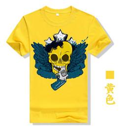 2fb210fa7ce Creative Skull Pentagram Pistol Print Tees Gray Cotton 2019 Summer Women T-shirt  Plus Size Couple Tops Korean Style Tshirt T5