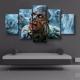 $enCountryForm.capitalKeyWord Australia - Walking Dead Zombies,5 Pieces Home Decor HD Printed Modern Art Painting on Canvas (Unframed Framed)