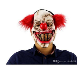 Big nose online shopping - Halloween Mask Scary Clown Latex Full Face Mask Big Mouth Red Hair Nose Cosplay Horror masquerade mask Ghost Party Free Delivery GA322